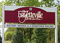 City of Fayetteville city limit welcome sign, 2014.jpg