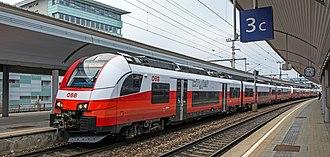 Vienna S-Bahn - A cityjet EMU at Wien Floridsdorf