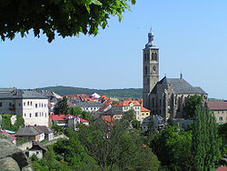 Cityscape of Kutná Hora - Saint James church.jpg