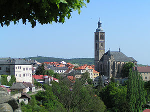 Central Bohemian Region - Cityscape of Kutná Hora with St James church