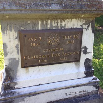 Claiborne Fox Jackson - Jackson's Tomb in the Sappington Cemetery, Saline County, Missouri