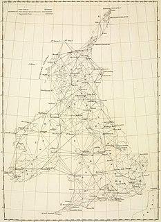 Principal Triangulation of Great Britain First trigonometric survey of Britain