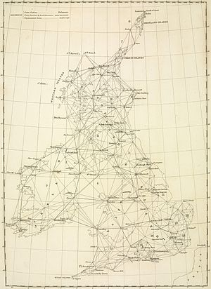 Principal Triangulation of Great Britain - The principal triangulation mesh over Britain.