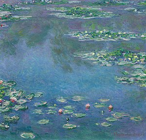 Pond - During the last thirty years of his life, the main focus of Claude Monet's artistic production was a series of about 250 oil paintings depicting the lily pond in his flower garden.