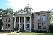 Cleburne County Courthouse in Heber Springs, Arkansas