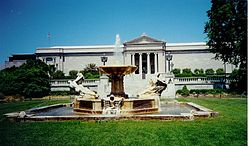 Il Cleveland Museum of Art, fronte meridionale