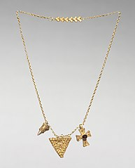 Chain with Two Pendants and a Cross
