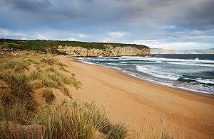 Clifton Beach, Tasmania - A view looking towards the eastern end of the beach.