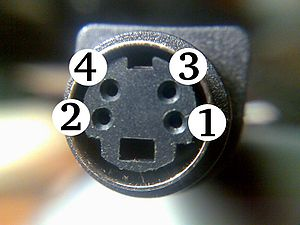 S-Video - Image: Close up of S video female connector