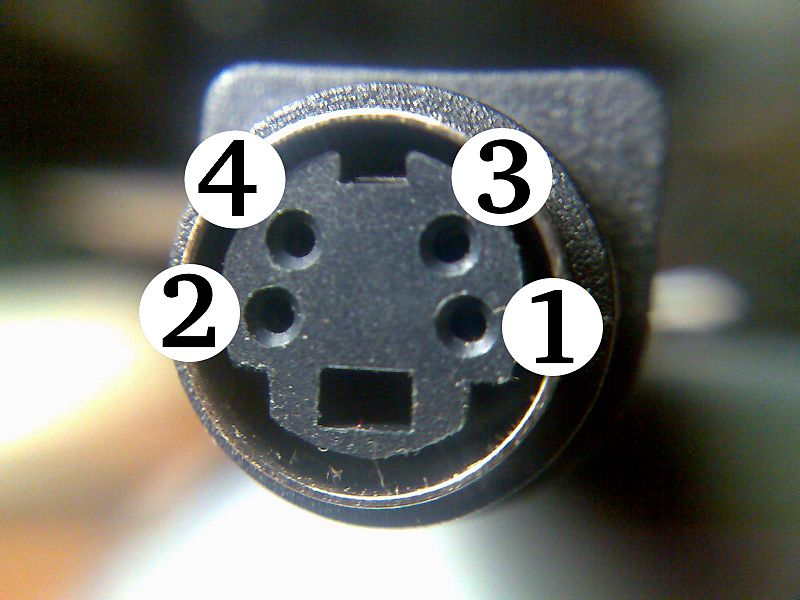 ファイル:Close-up of S-video female connector.jpg