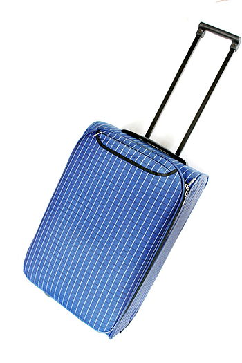 English: Suitcase made with cloth material.