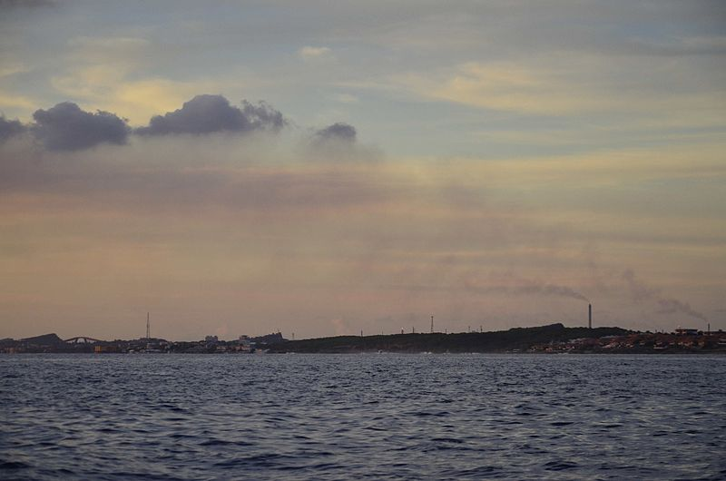 Cloud formation from refinery in Curacao.jpg