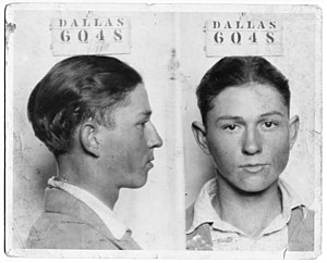 Barrow Gang - Image: Clyde Champion Barrow Mug Shot Dallas 6048