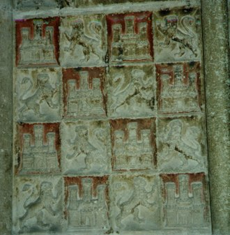 Castile and León - Symbols of Castile and León in the cathedral of Burgos.