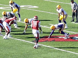 Cobi Hamilton, LSU at Arkansas, 2012.jpg