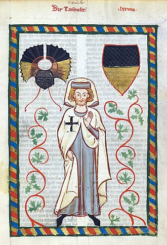 Tannhäuser - Tannhäuser, from the Codex Manesse (about 1300).