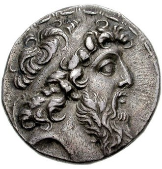 Demetrius II Nicator - Image: Coin of Demetrius II Nicator (cropped), Ptolemais in Phoenicia mint