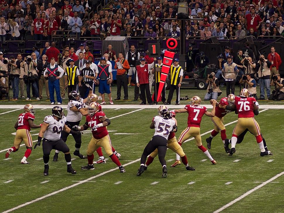 Colin Kaepernick in Super Bowl XLVII