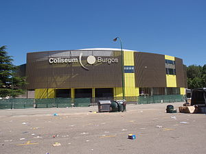 Coliseum Burgos - Façade of the Coliseum after its renovation.