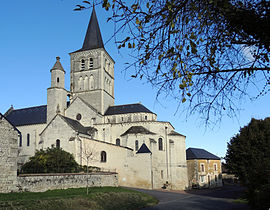 The collegiate church of Saint-Georges, in Faye-la-Vineuse