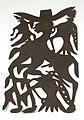Collectie Nationaal Museum van Wereldculturen TM-4515-25 Plaatijzeren siervoorwerp met een afbeelding van een centaur Port au Prince.jpg