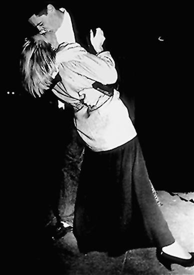 Cologne Reunification Kiss