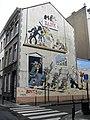Comic wall Lucky Luke, Morris. Bruxelles.jpg