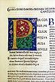 Commento di cristoforo landino sopra la comedia di dante..., incunabolo per niccolò di lorenzo della magna, firenze 1481, 08 purgatorio canto I, iniziale P.jpg