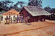 Villagers in Yambuku, Zaire, being examined by staff from the US CDC