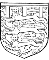 Fig. 714.—John de Mowbray, Duke of Norfolk (d. 1461): Arms as Fig. 711. (From his seal.)