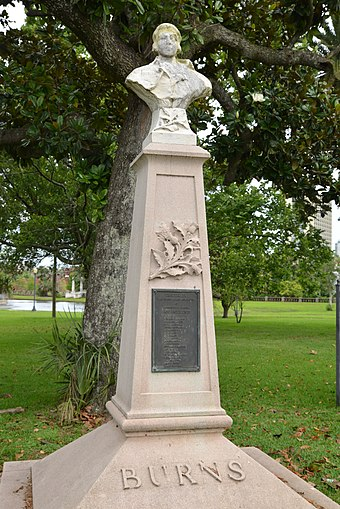 Statue in Confederate Park, by the Robert Burns Association of Jacksonville, Florida Confederate Park, Jacksonville, FL, US.jpg