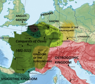 Burgundians - Kingdom of the Burgundians in around 500