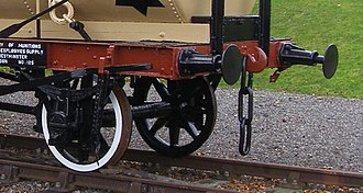 Railway coupling - Three-link coupling on a tank wagon