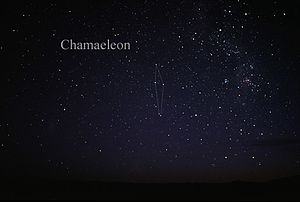 Chamaeleon - The constellation Chamaeleon as it can be seen by the naked eye.