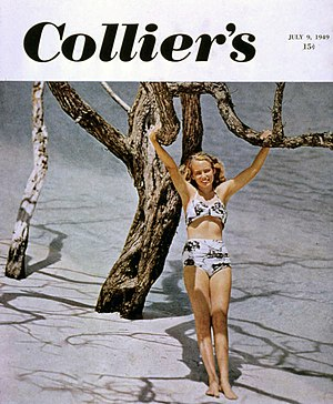 Lois Duncan - Duncan on the cover of a 1949 issue of Collier's, photographed by her father.