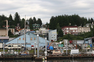 Cordova, built in the early 20th century to support the Kennecott Mines and the Copper River and Northwestern Railway, has persevered as a fishing community since their closure. CordovaHillside.jpg