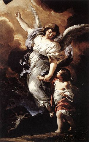 Angel of God - Guardian angel, by Pietro da Cortona, 1656