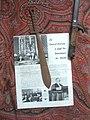 Coupe-papier (artisanat de tranchée avec du cuivre d'obus rétamé) siglé EM pour Edmond Miniac (1884-1947), avocat-général à la cour de cassation..JPG