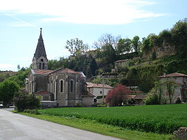 View of the village of Crépol