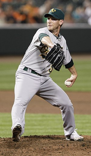 Craig Breslow - Breslow with the Oakland Athletics