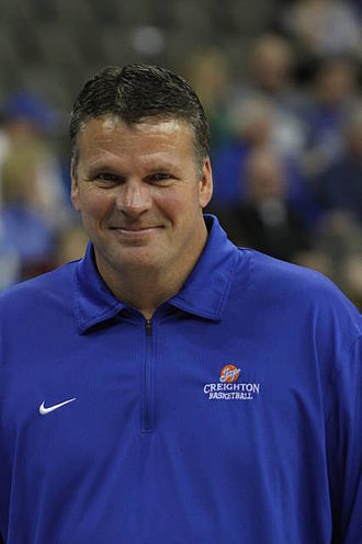 Greg McDermott - McDermott at the MVC Tournament in 2012