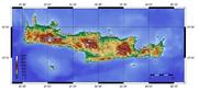Topographic map of Crete