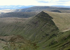 Cribyn (mountain) - Cribyn and the top of Cwm Sere from Pen y Fan