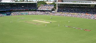 Spectator sport - The Sydney Cricket Ground during a test match
