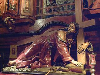 "San Ginés, Madrid - ""Fallen Christ"" (1698), designed by Nicolò Fumo."