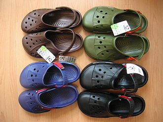 Crocs - Crocs are made in a variety of colors.