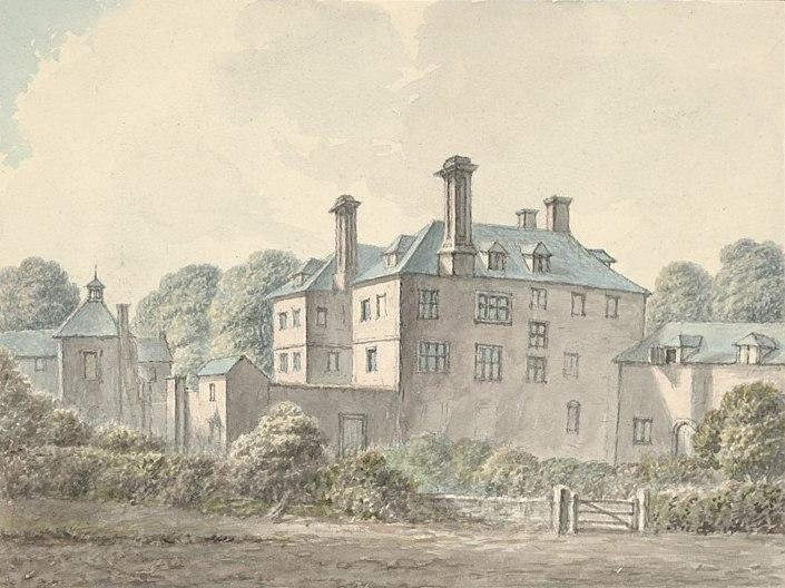 Croesnewydd near Wrexham S.E. view property of Ellice Esq. 1796