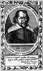 Johann Crüger in 1641 (Source: Wikimedia)