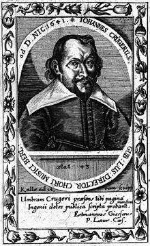 Johann Crüger, Stich von Albrecht Christian Kalle, 1641 (Quelle: Wikimedia)