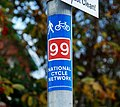 Cycle route sticker, Belfast - geograph.org.uk - 1627411.jpg